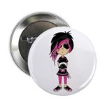 "Cute Emo Punk Girl 2.25"" Button"