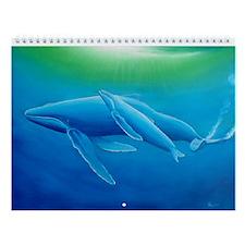 Whale Wall Calendar