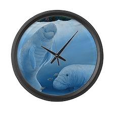 Cute Sea turtle Large Wall Clock