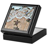 Leatherback turtles Keepsake Boxes