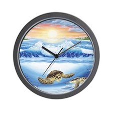 Turtle Haven Wall Clock
