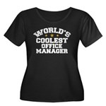 Coolest Office Manager Women's Plus Size Scoop Nec