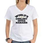Coolest Office Manager Women's V-Neck T-Shirt