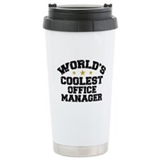 Coolest Office Manager Travel Coffee Mug