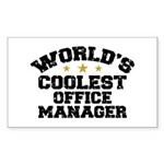Coolest Office Manager Sticker (Rectangle)
