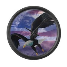 Freedom Eagle Large Wall Clock