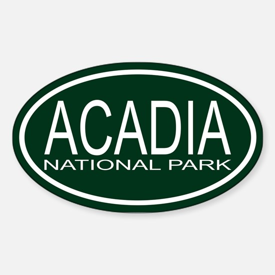 Acadia National Park Sticker (Oval)