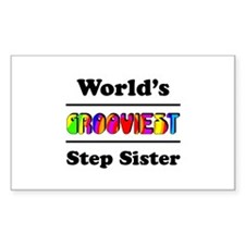 World's Grooviest Step Sister Decal