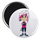 Cute Emo Punk Girl Magnet