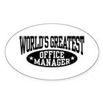 Office Manager Sticker (Oval)