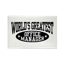 Office Manager Rectangle Magnet