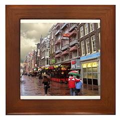 Hotel Row -- Amsterdam Framed Tile