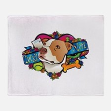 Lucky in Love Throw Blanket