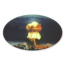 Priscilla Nuclear Test Oval Decal