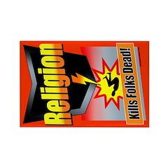 Religion: Kills Folks Dead! Rectangle Magnet