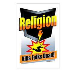 Religion: Kills Folks Dead! Postcards (Package of