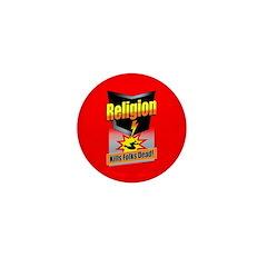 Religion: KILLS FOLKS DEAD! Mini Button (10 pack)