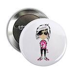 "Cute Little Emo Punk Girl 2.25"" Button"