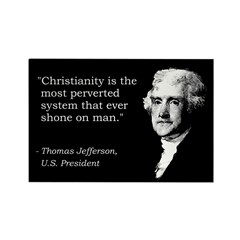 Thomas Jefferson Quote Rectangle Magnet (10 pack)