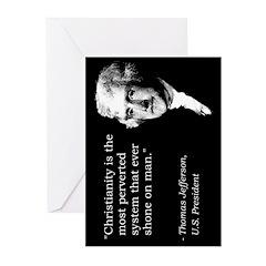 Thomas Jefferson Quote Greeting Cards (Pk of 10)