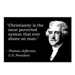 Thomas Jefferson Quote Postcards (Package of 8)