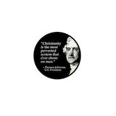 Thomas Jefferson Quote Mini Button