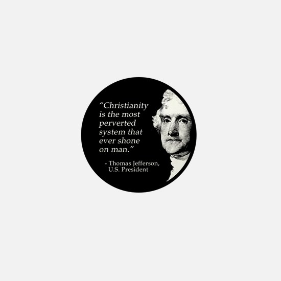 Thomas Jefferson Quote Mini Button
