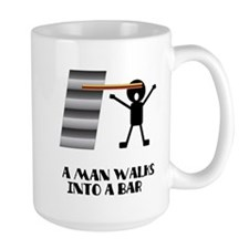 A Man Walks Into A Bar Joke Mug