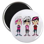"Cute Emo Punk Girl 2.25"" Magnet (100 pack)"