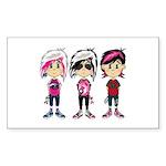Cute Emo Punk Girl Sticker (Rectangle)