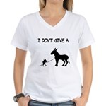 I Don't Give A Rat's Ass Women's V-Neck T-Shirt