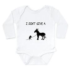 I Don't Give A Rat's Ass Long Sleeve Infant Bodysu