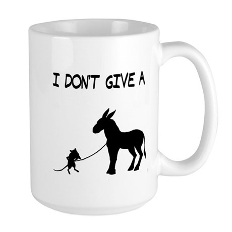 I Don't Give A Rat's Ass Large Mug