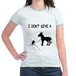 I Don't Give A Rat's Ass Jr. Ringer T-Shirt