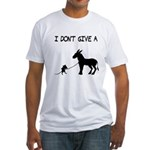 I Don't Give A Rat's Ass Fitted T-Shirt
