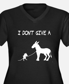 I Don't Give A Rat's Ass Women's Plus Size V-Neck