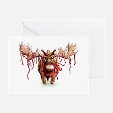Festive Moose Greeting Card