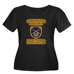 Camp Ver Women's Plus Size Scoop Neck Dark T-Shirt