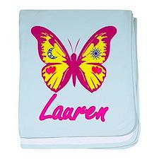 Lauren-Butterfly baby blanket