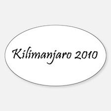 Kilimanjaro 2010 Decal