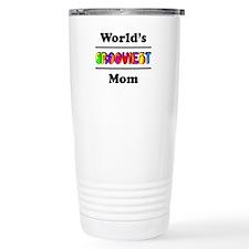 World's Grooviest Mom Travel Mug