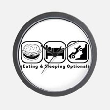 Eat Sleep Crawl Wall Clock