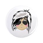 "Cute Emo Punk Girl 3.5"" Button (100 pack)"
