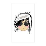 Cute Emo Punk Girl Sticker (Rectangle 50 pk)