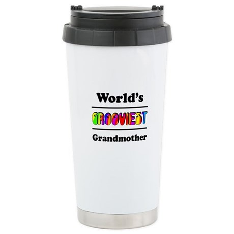 World's Grooviest Grandmother Stainless Steel Trav