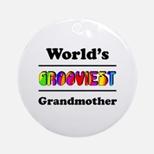 World's Grooviest Grandmother Ornament (Round)