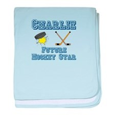 Charlie - Future Hockey Star baby blanket