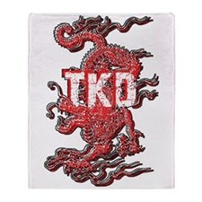 TKD Dragon Throw Blanket