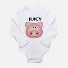 Princess pig Long Sleeve Infant Bodysuit