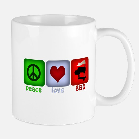 Peace Love and BBQ Mug